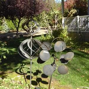 Lot # 120 - Two Handmade Metal Wind Spinners