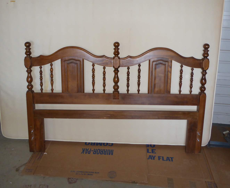 Lot # 256 - Queen Mattress & Metal Bed Frame & Headboard  (main image)