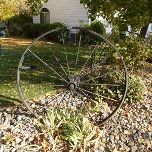 Lot # 8 - Large Iron Wagon Wheel