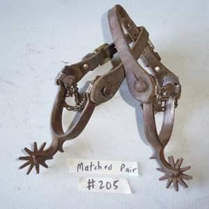 Lot # 205 - Vintage North & Judd Horse Spurs (Anchor Mark)