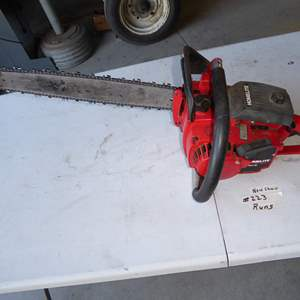 "Lot # 223 - Homelite ""Big Red"" Chain Saw"