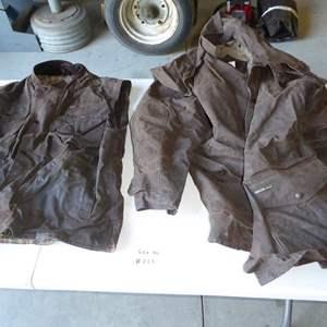 Lot # 225 - Australian Oil Skin Coat & Vest