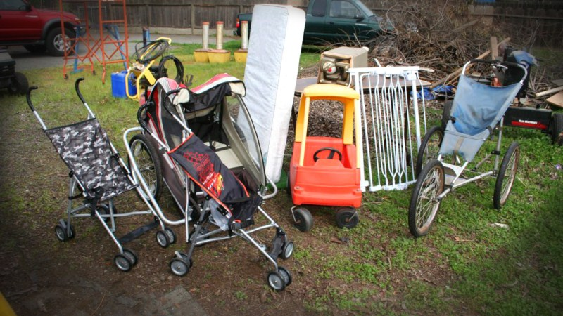 Lot #6 - Large Toddler Transportation Lot - Pull Behind Bike Trailer, Strollers .... (main image)