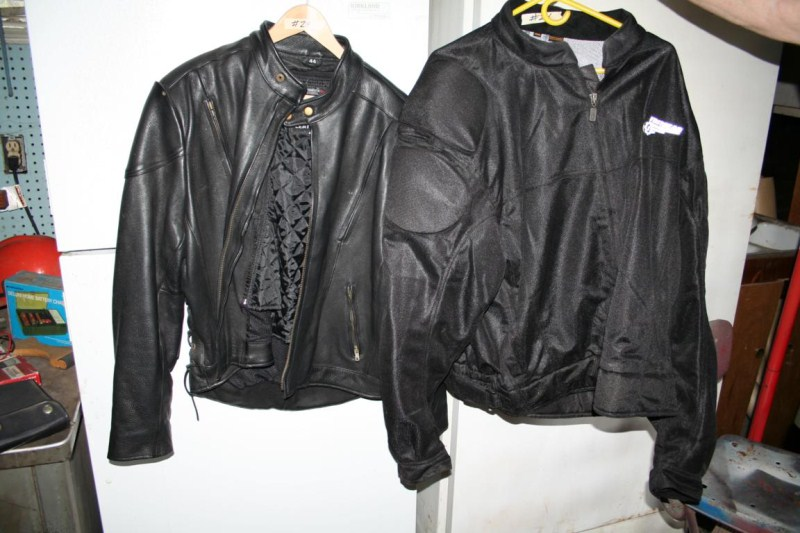 Lot #24 - Men's Riding Jackets - One Leather Size 44 and One 4XL (main image)