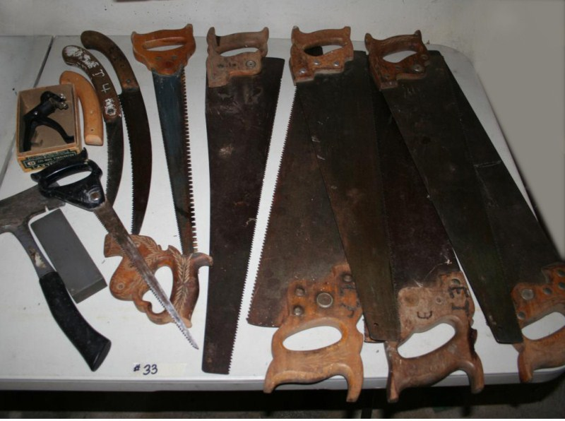 Lot #33 - Large Lot of Hand Saws (main image)