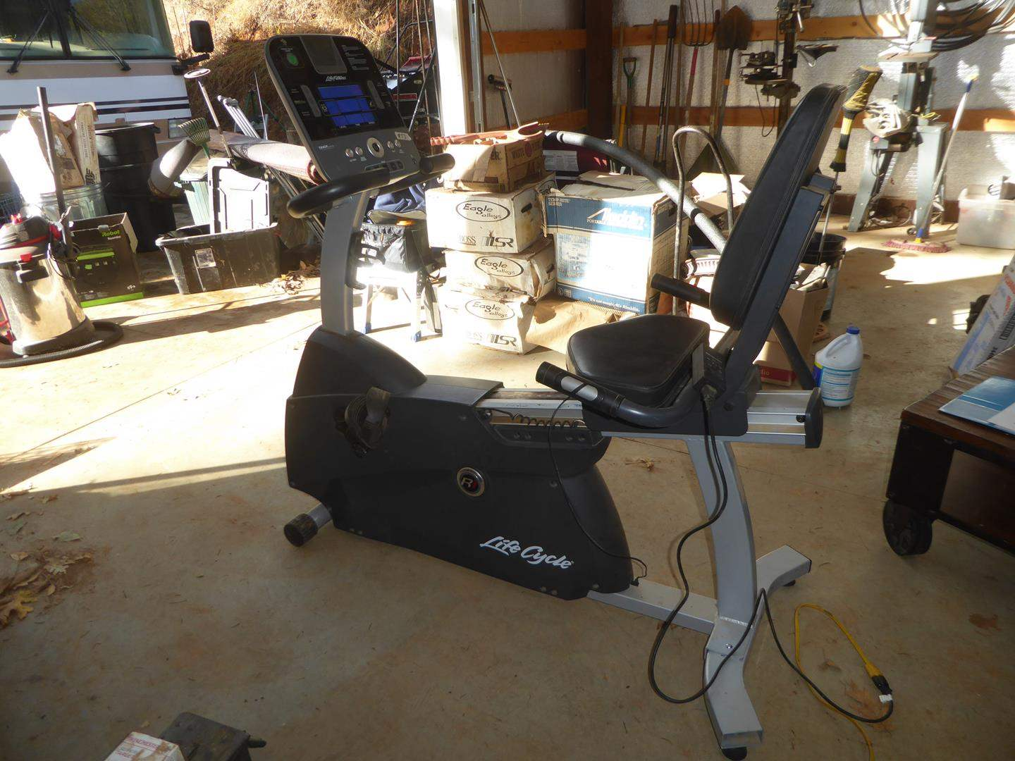 Lot # 53 - Life Cycle Track Console Exercise Bike (main image)