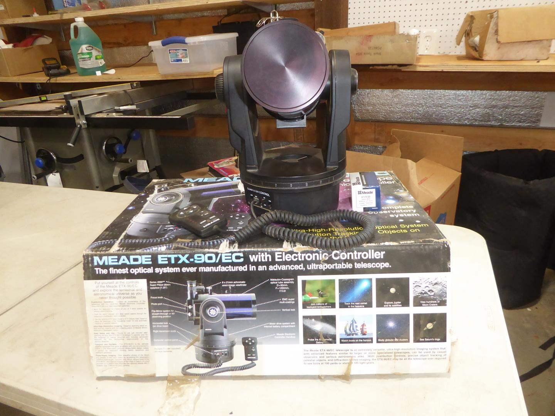 Lot # 55 - Mead ETX-90/EC Astronomical Telescope w/Electronic Controller (main image)