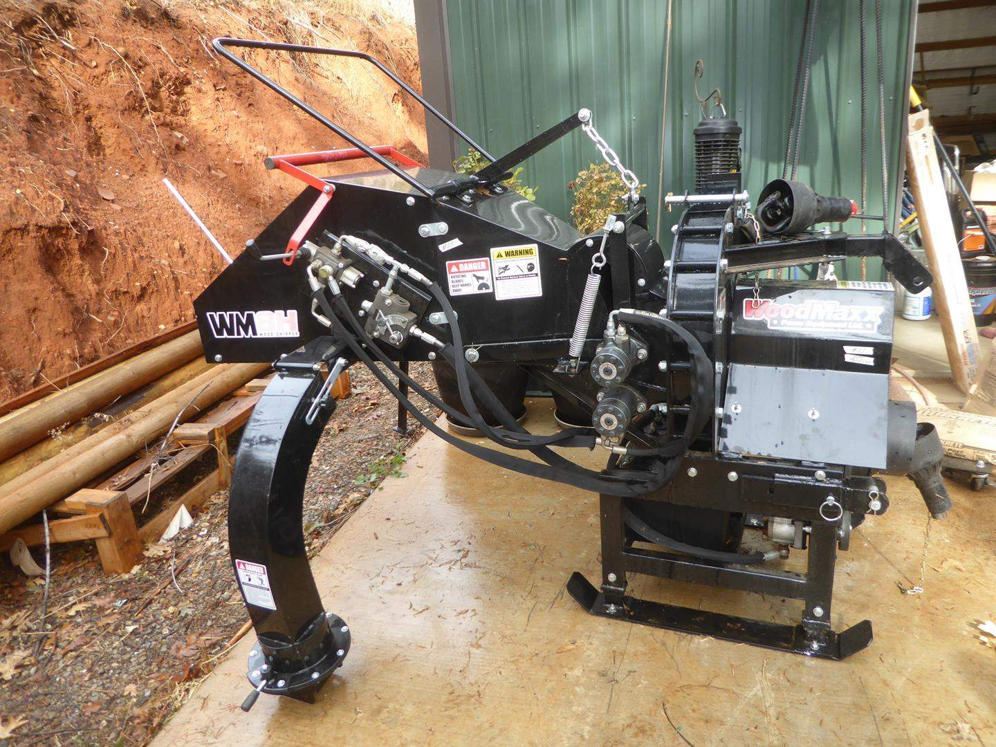 "Lot # 61 - WoodMaxx 8"" PTO Wood Chipper - Like New Just Purchased this year (main image)"