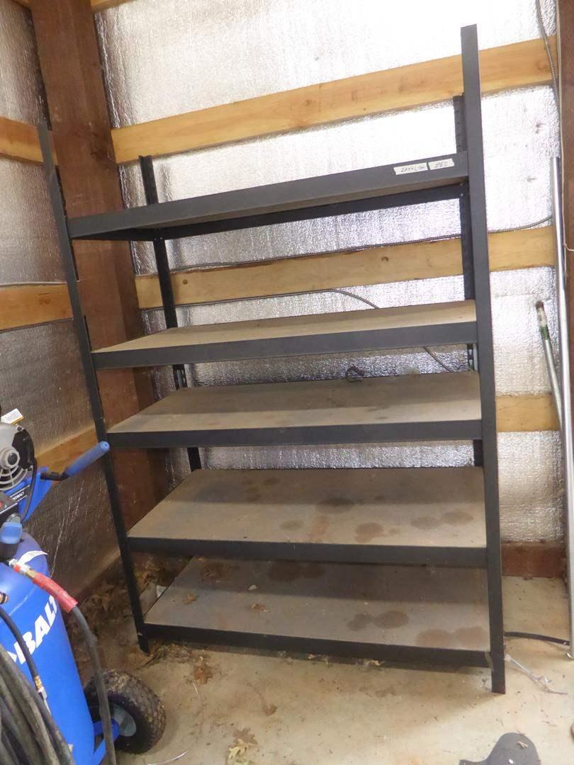 Lot # 63 - Metal Framed Shop Shelf