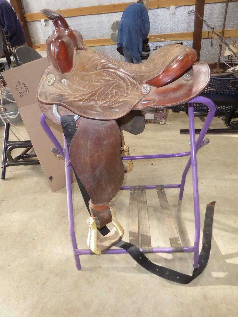 Lot # 68 - Western Leather Saddle (main image)