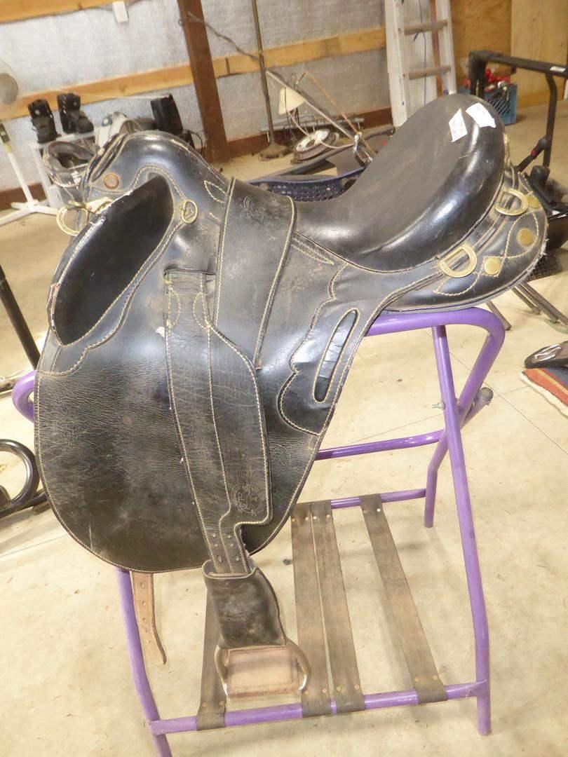 Lot # 71 - Australian Leather Saddle (main image)