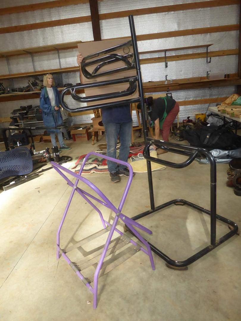 Lot # 72 - Three Tier Metal Saddle Rack & Folding Single Metal Saddle Rack