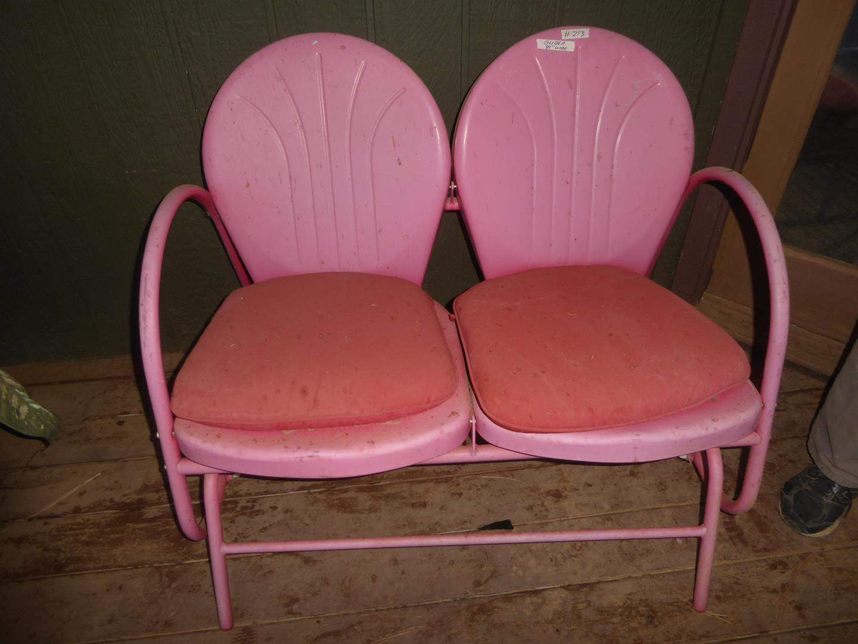 Lot # 213 - Vintage Pink Metal Glider