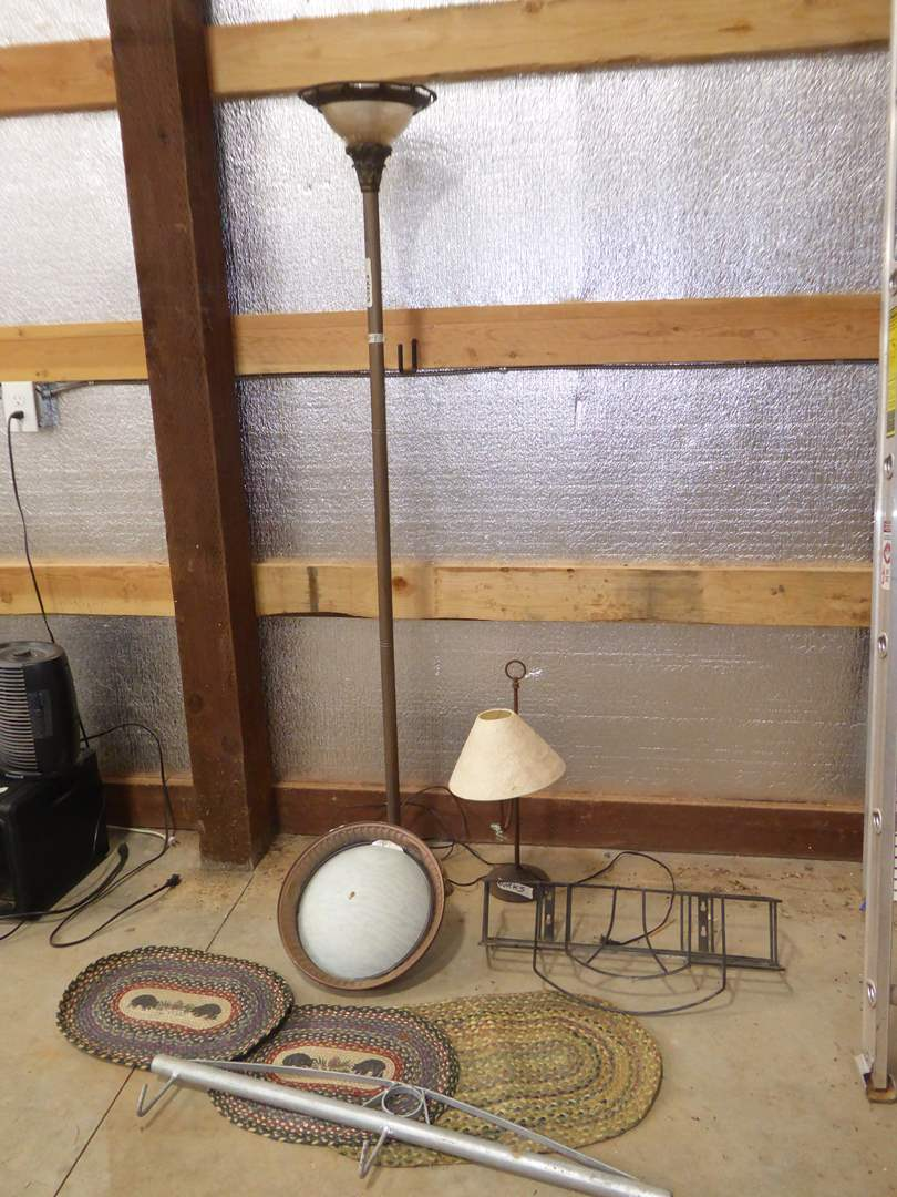 Lot # 9 - Floor Lamp, Table Lamp & Ceiling Lighting   (main image)