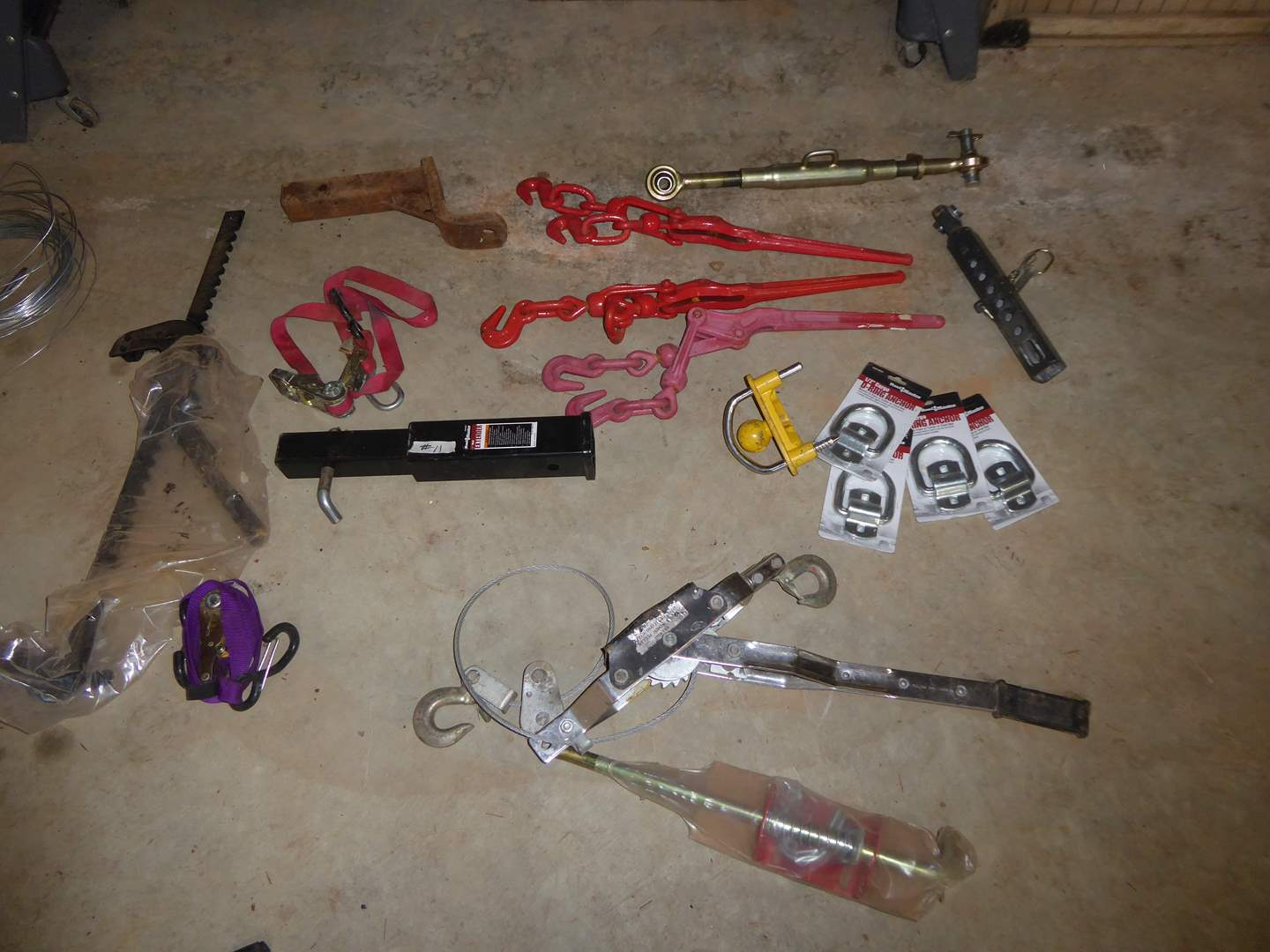 Lot # 11 - Come Alongs, Winch Puller & Hitch Receivers