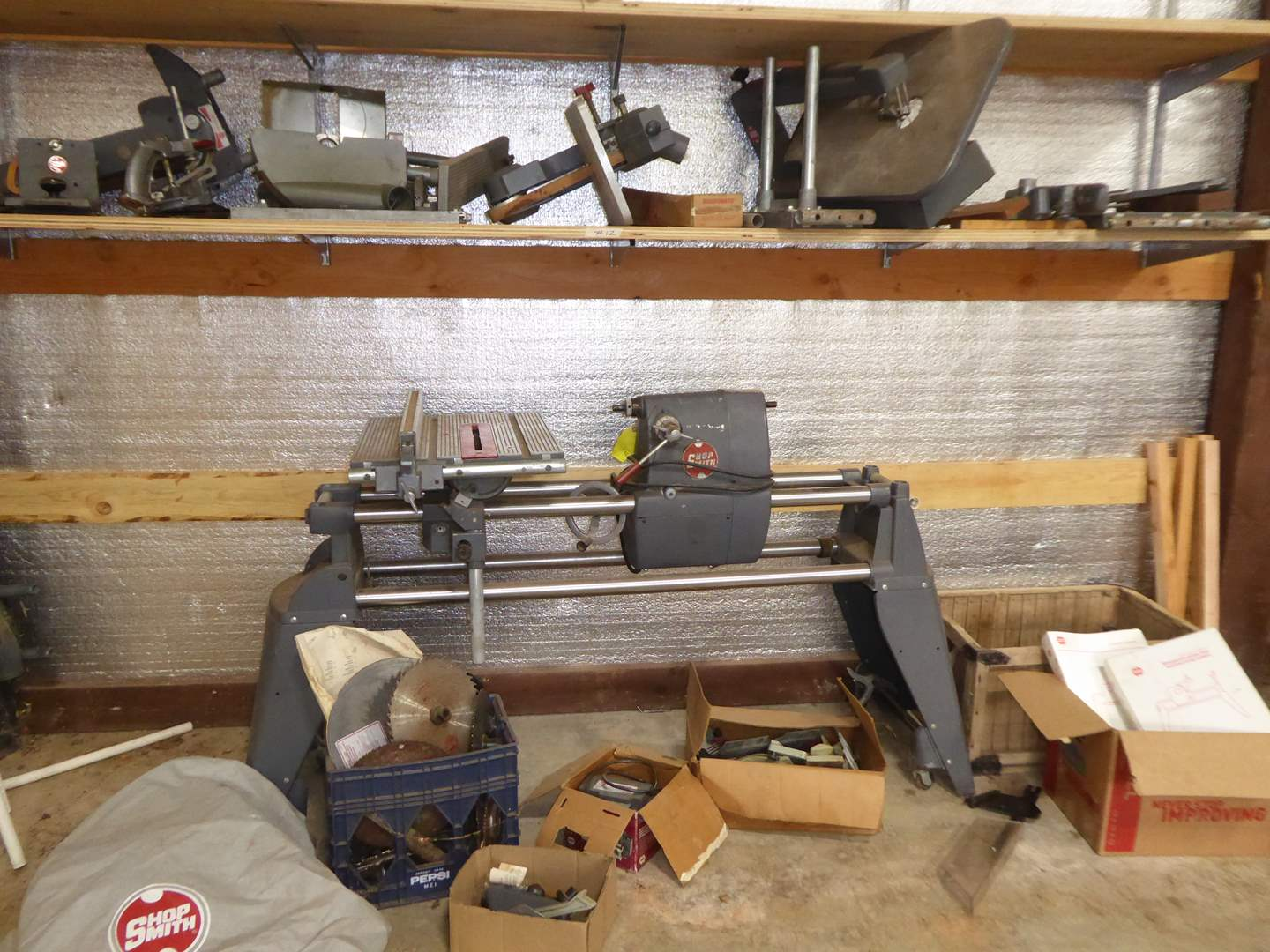 Lot # 12 - Shopsmith With Attachments & Books  (main image)