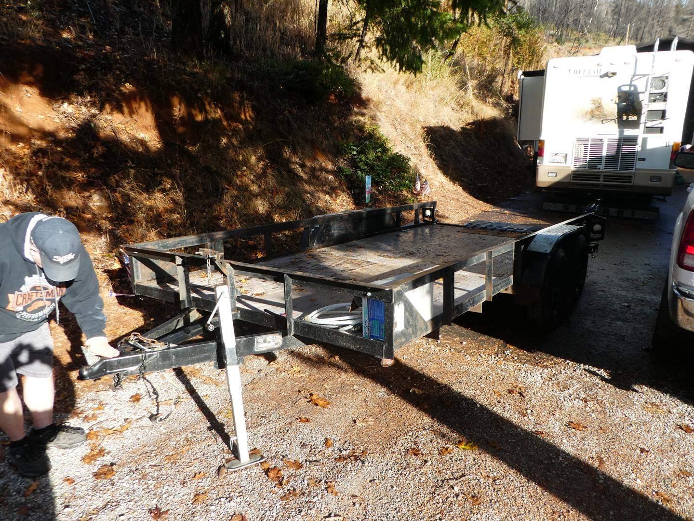 Lot # 301 -  Big Tex Flat Bed Trailer 16 X 7 Deck