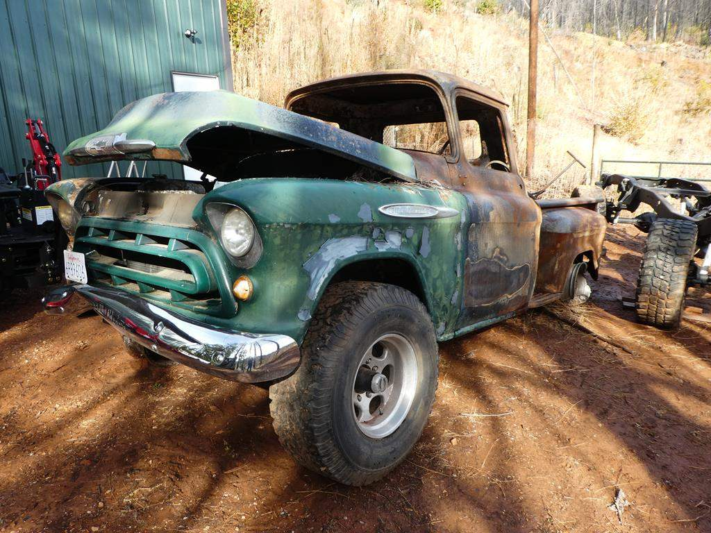 Lot # 305 - 1957 Chevy Truck - Parts or Restoration
