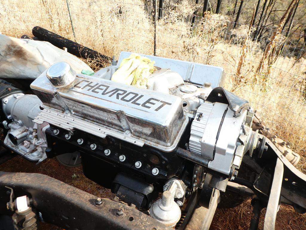 Lot # 306 - 1975 Chevy K-10 Short Bed Frame & Running Gear, Rebuilt 350 Chevy Motor, Rebuilt Turbo 350 Hydro Auto Trans,