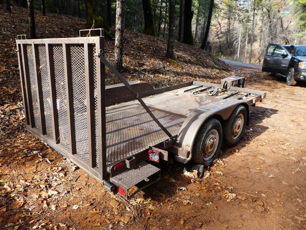 """Lot # 315 - 18Ft  Flat Bed Trailer - 14' 1/2"""" x 6' 1/2"""" Deck - Used for Motorcycles & Quads"""