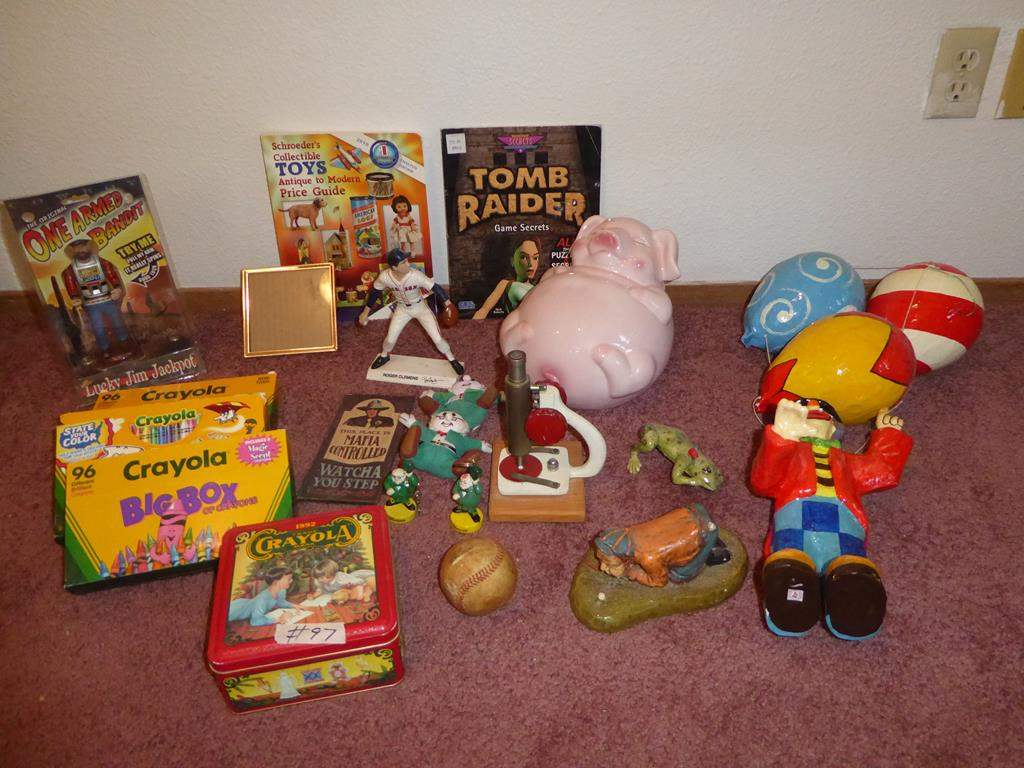 Lot #97- Crayola Crayons, Microscope, Toys & Piggy Bank (main image)