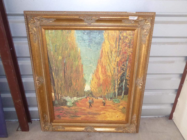 Lot # 57 - Beautifully Framed Brushstrokes Enhanced Vincent Van Gogh Limited Edition Print 310/980 (main image)