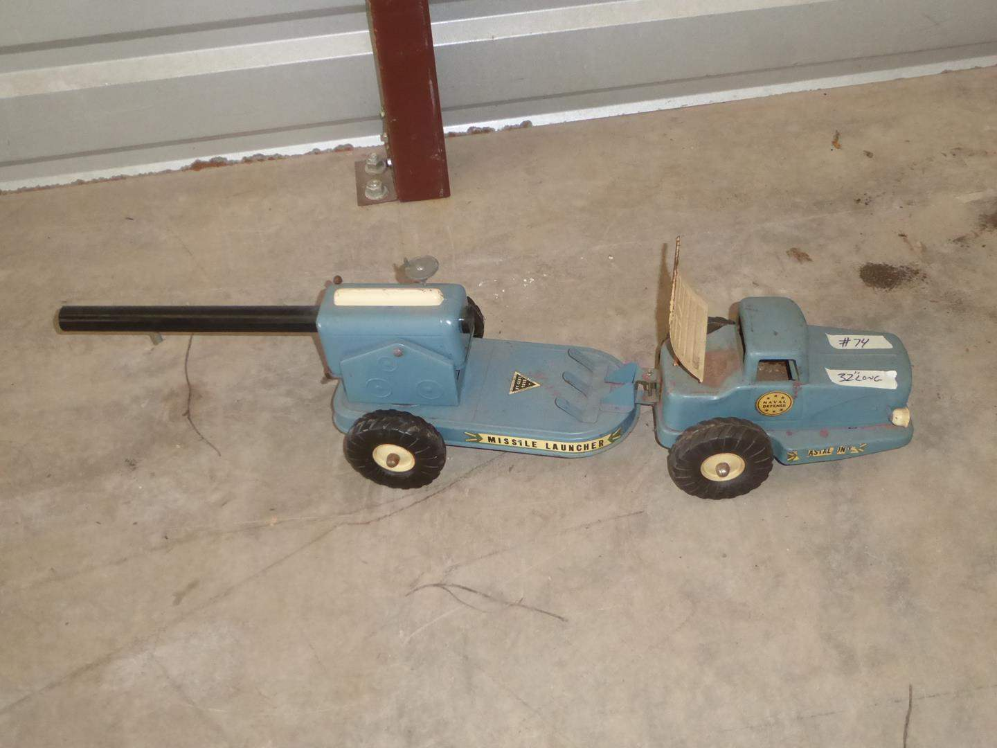 Lot # 74 - Vintage 'Ny-Lint Toys' Naval Defense Missile Launcher (main image)