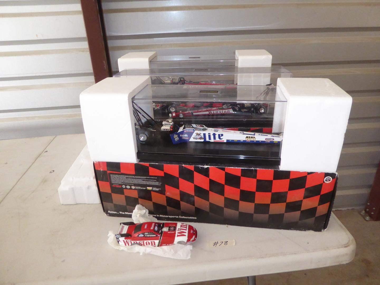 Lot # 78 - Mac Tools Dragsters (NIB) & Winston Car Body -  Collectibles (main image)