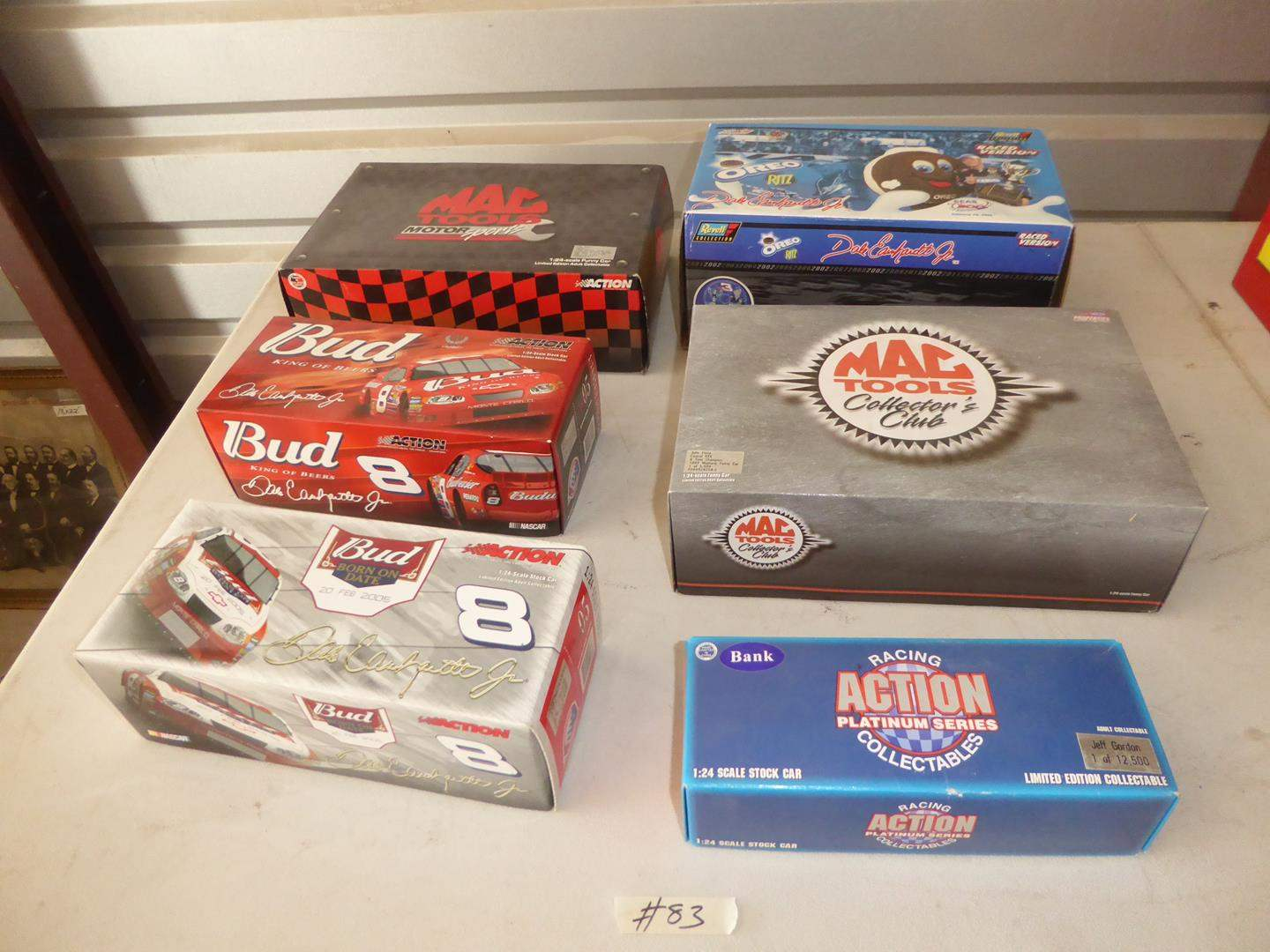 Lot # 83 - Dale Earnhardt Jr., Mac Tools & Nascar Adult Collectible Die Cast Cars & Bank (NIB) (main image)