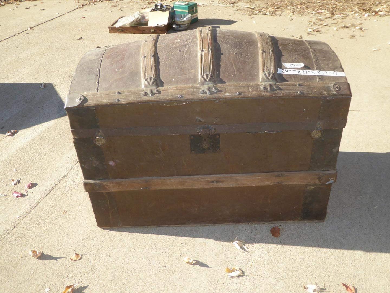 Lot # 100 - Old Camelback Steamer Trunk (main image)