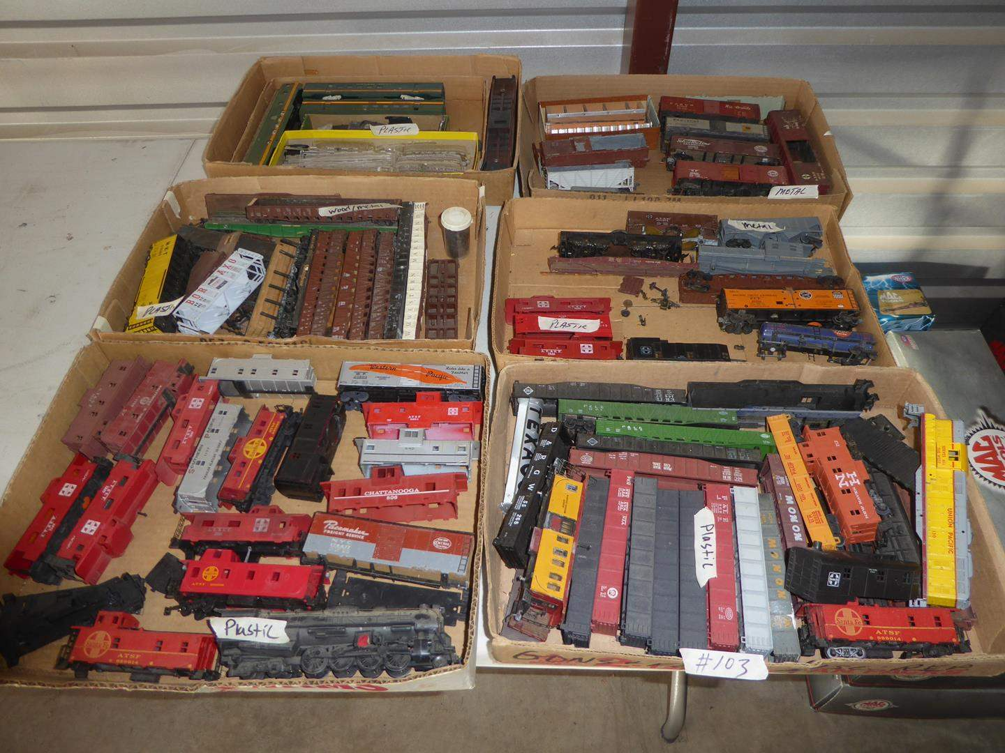 Lot # 103 - Vintage Toy Trains Collection - Plastic & Metal (main image)