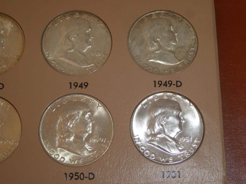 Lot # 118 - 36 Vintage Franklin SILVER Half Dollar Collection  $18.00 Face (main image)