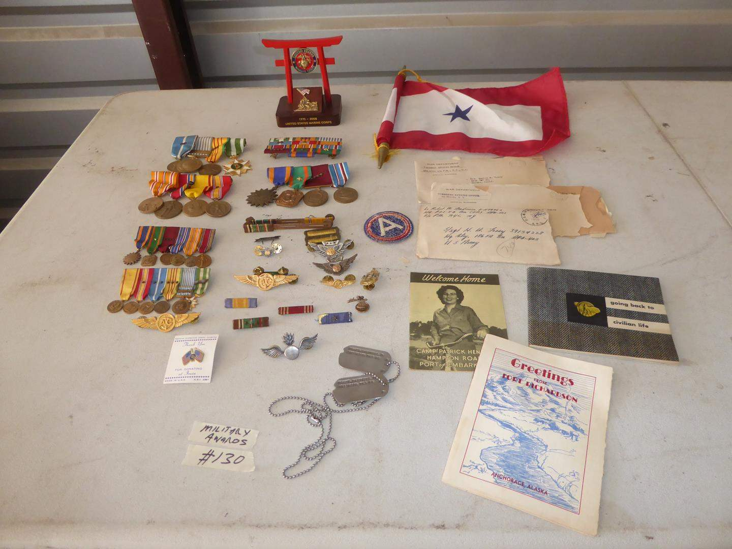 Lot # 130 - Vintage Military Awards Collection (main image)