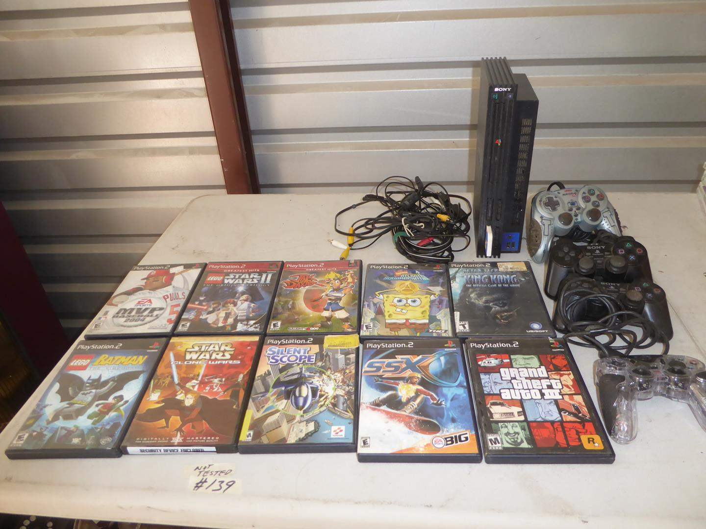 Lot # 139 - PS2 PlayStation, Controllers & Games (main image)