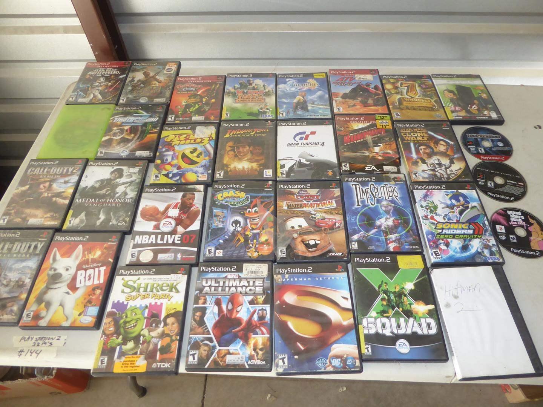 Lot # 144 - 32 PlayStation 2 Games (main image)