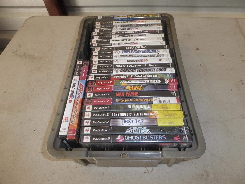 Lot # 145 - 27 PlayStation 2 Games (main image)
