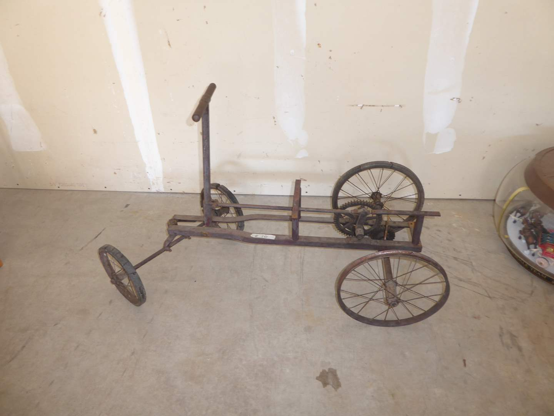 Lot # 10 - Vintage Irish Mail Car - Kids Push/Pull Cart (main image)