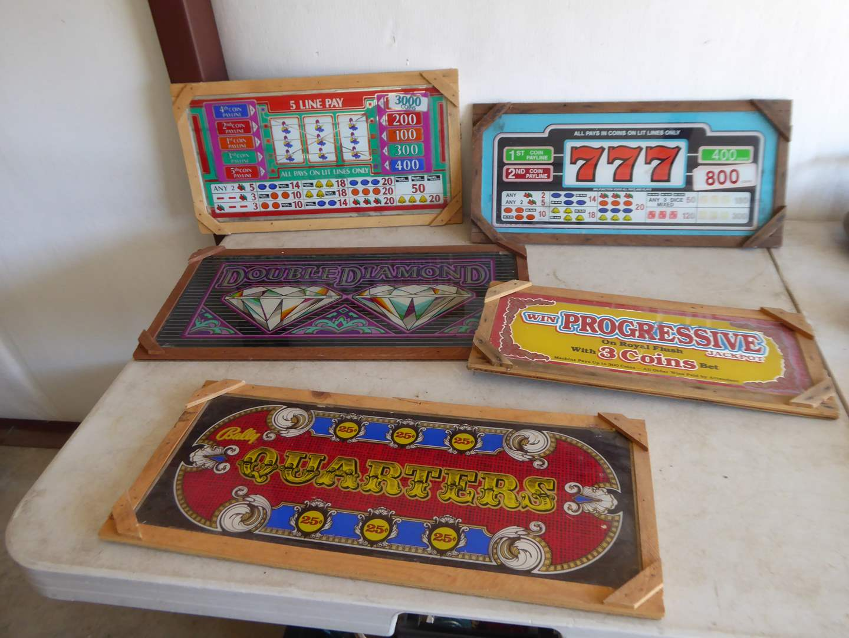 Lot # 20 - Framed Slot Machine Glass  (main image)