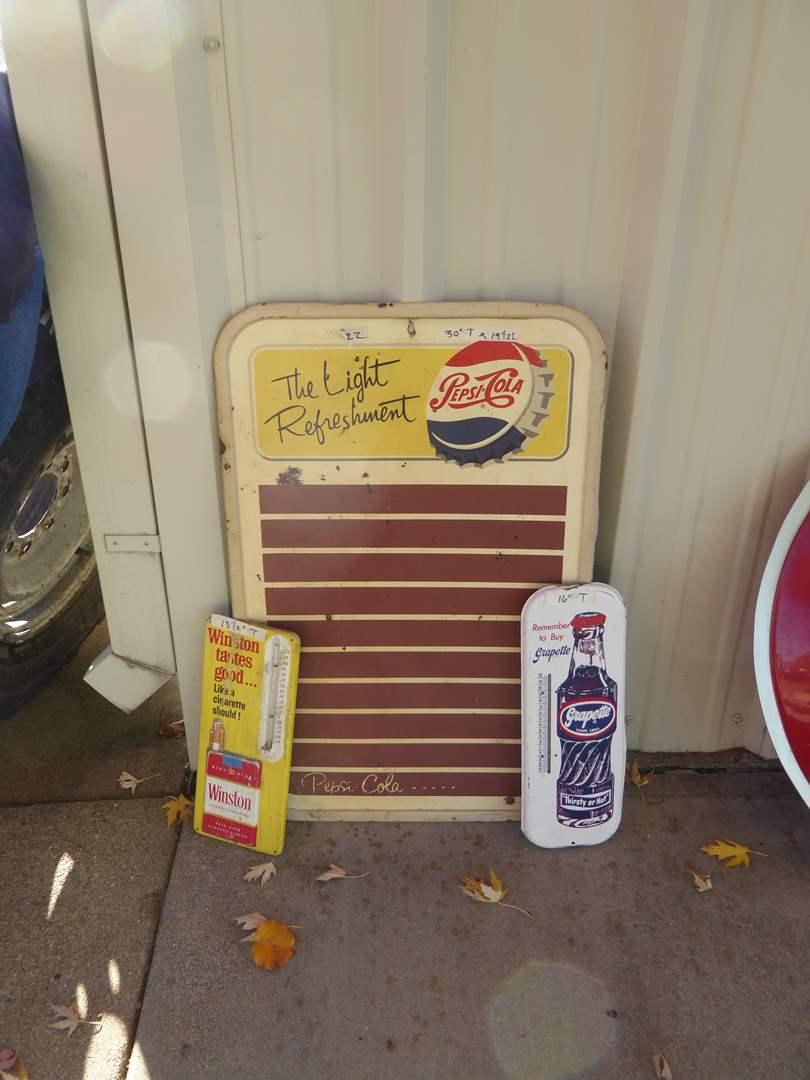 Lot # 22 - Vintage Metal Product Advertisements  (main image)