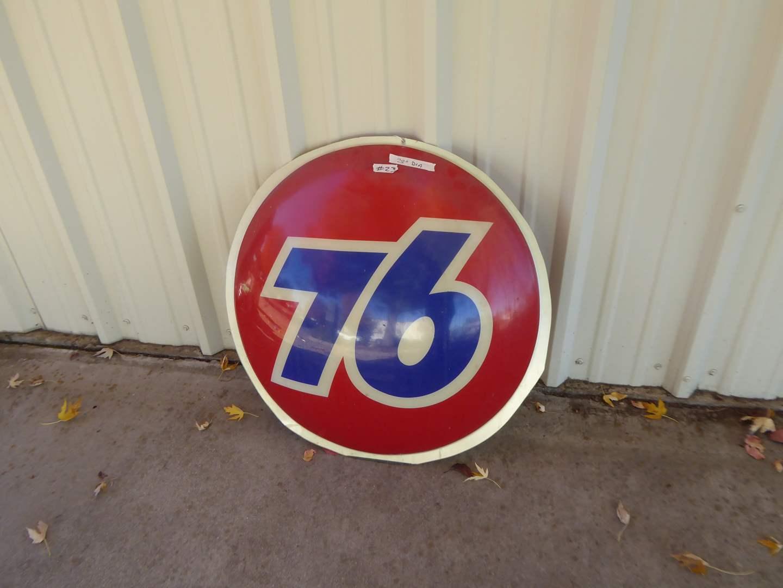 Lot # 23 - Plastic 76 Sign  (main image)