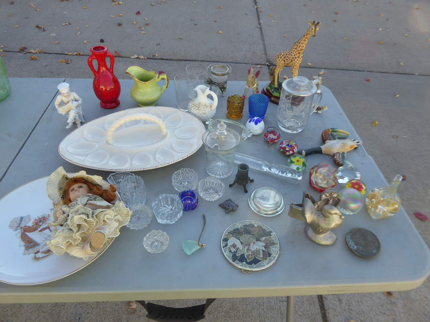 Lot # 31 - Eppelsheimer Pewter Mold, Glass Paper Weights, Figurines & More  (main image)