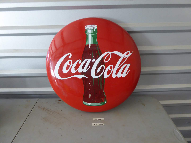 Lot # 46 - Large Vintage Coca-Cola Button  (main image)