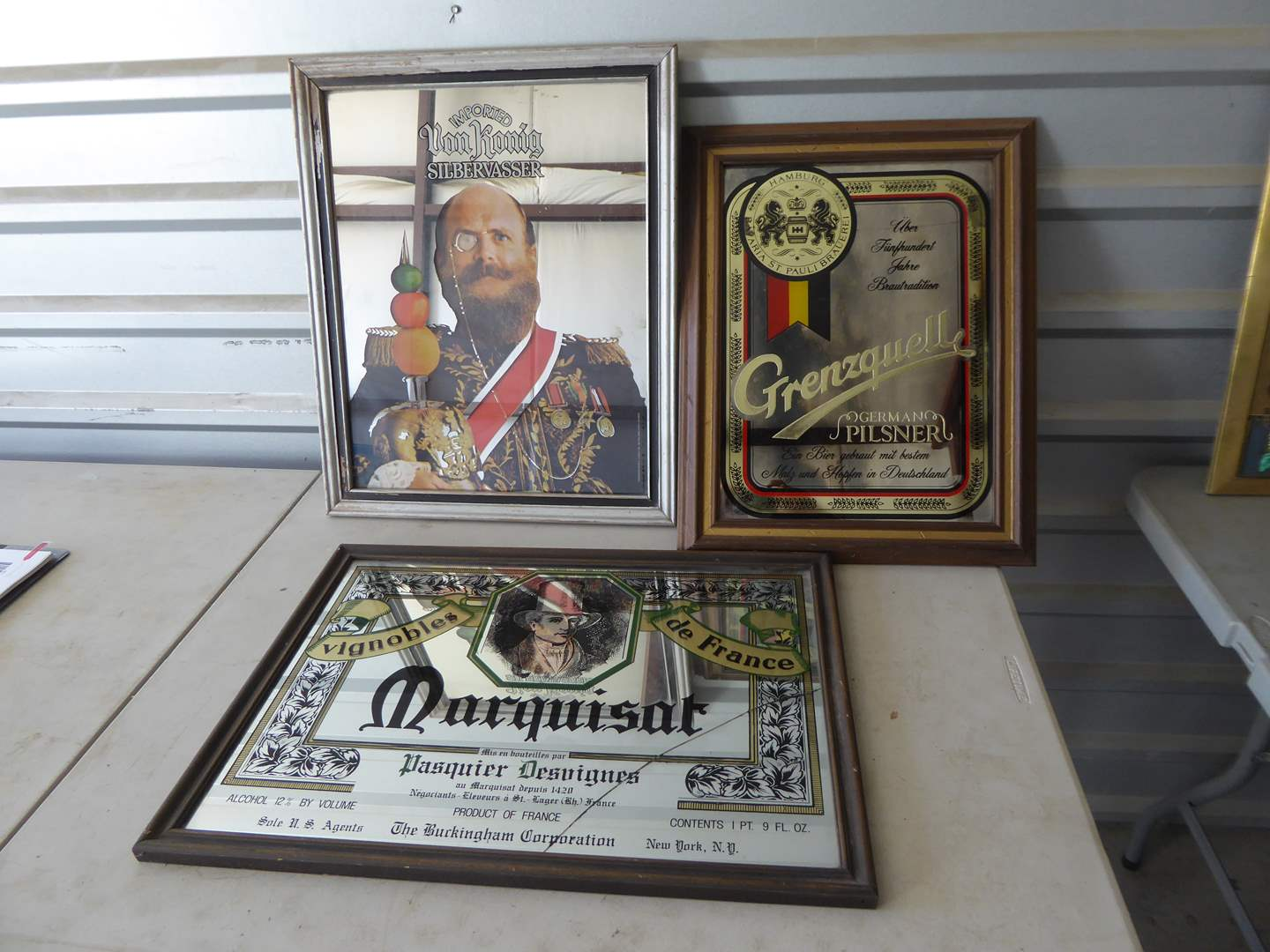 Lot # 185 - Vintage Bar Advertising Mirrors  (main image)