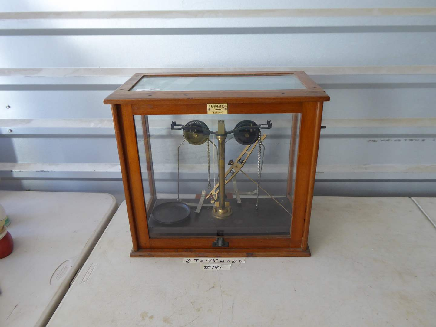 Lot # 191 - Griffin & George Limited Pharmacy Scale  (main image)