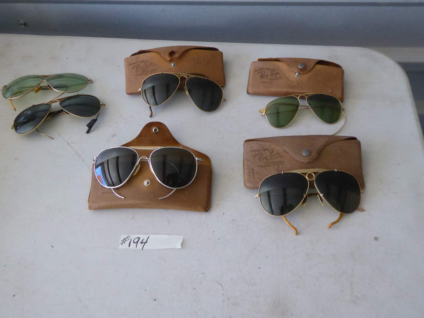 Lot # 194 - Vintage Ray Bans & Cases (Some For Parts)  (main image)