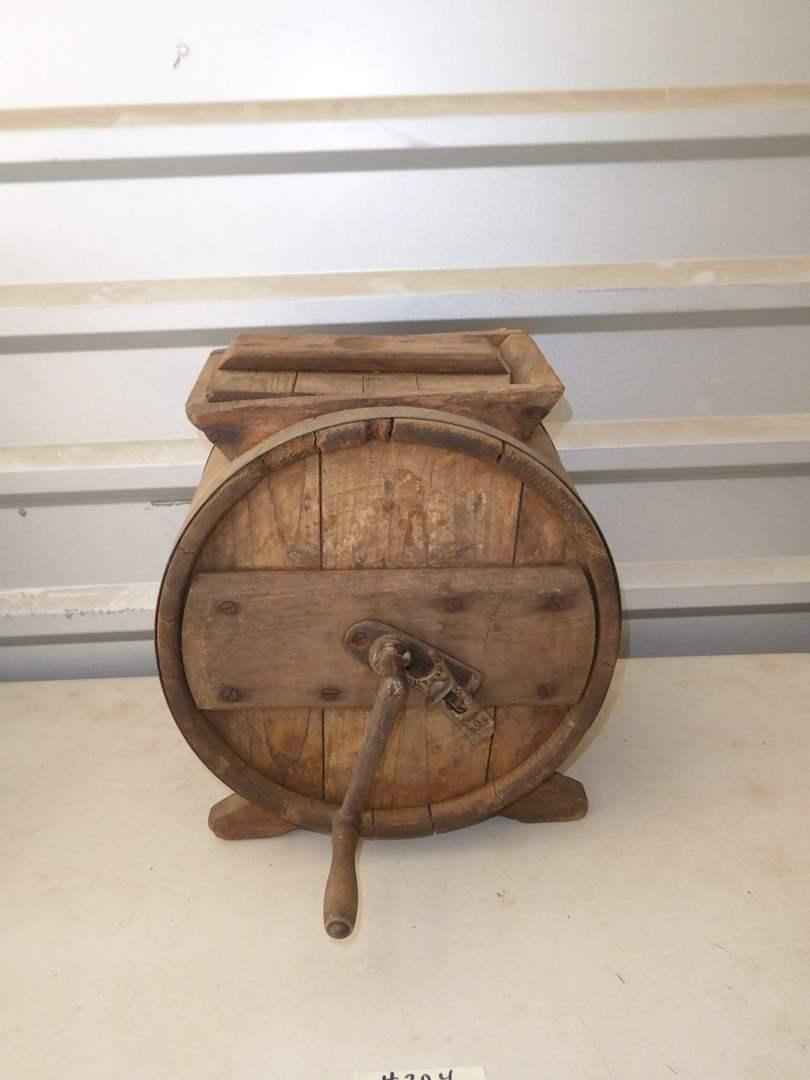Lot # 204 - Antique Cylinder Churn  (main image)