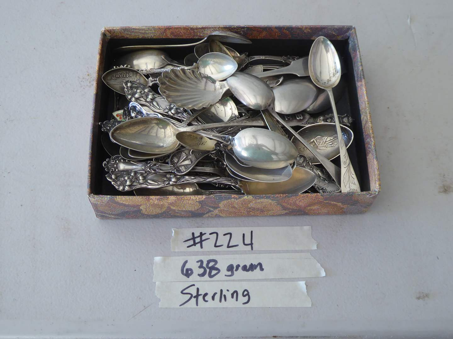 Lot # 224 - 638 Grams Sterling Silver Spoons (main image)