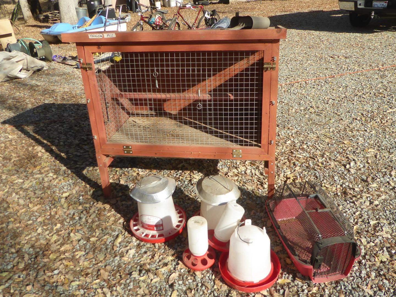 Lot # 62 - Chicken Coop & Feeders (main image)