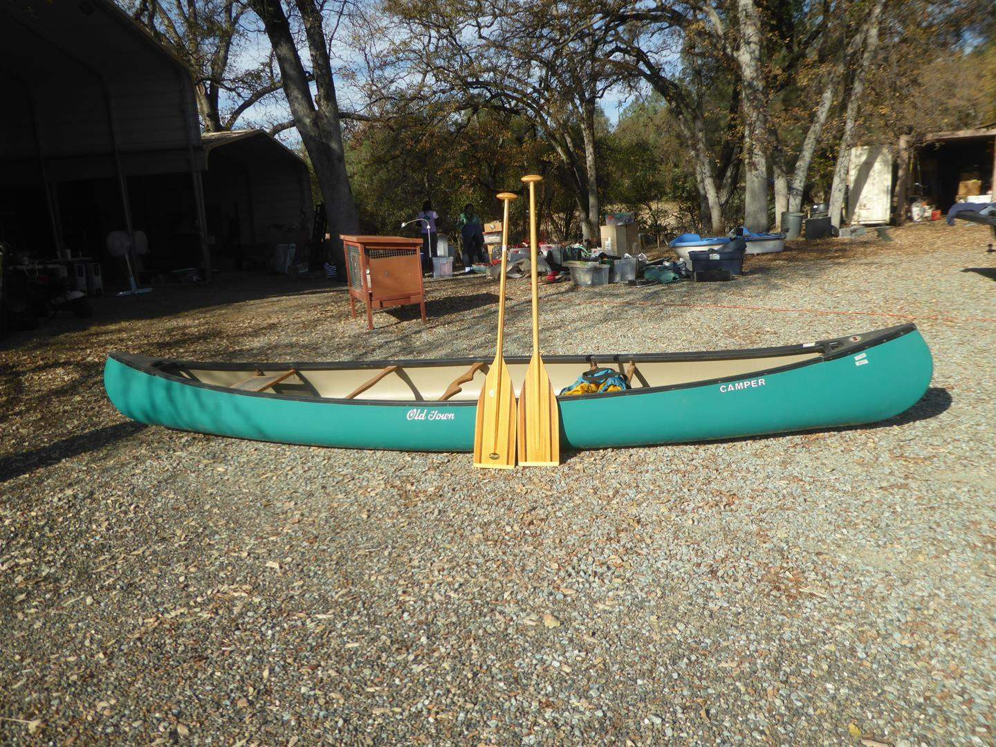 """Lot # 69 - Old Town Canoe 15'4"""" Long & Two Paddles (main image)"""