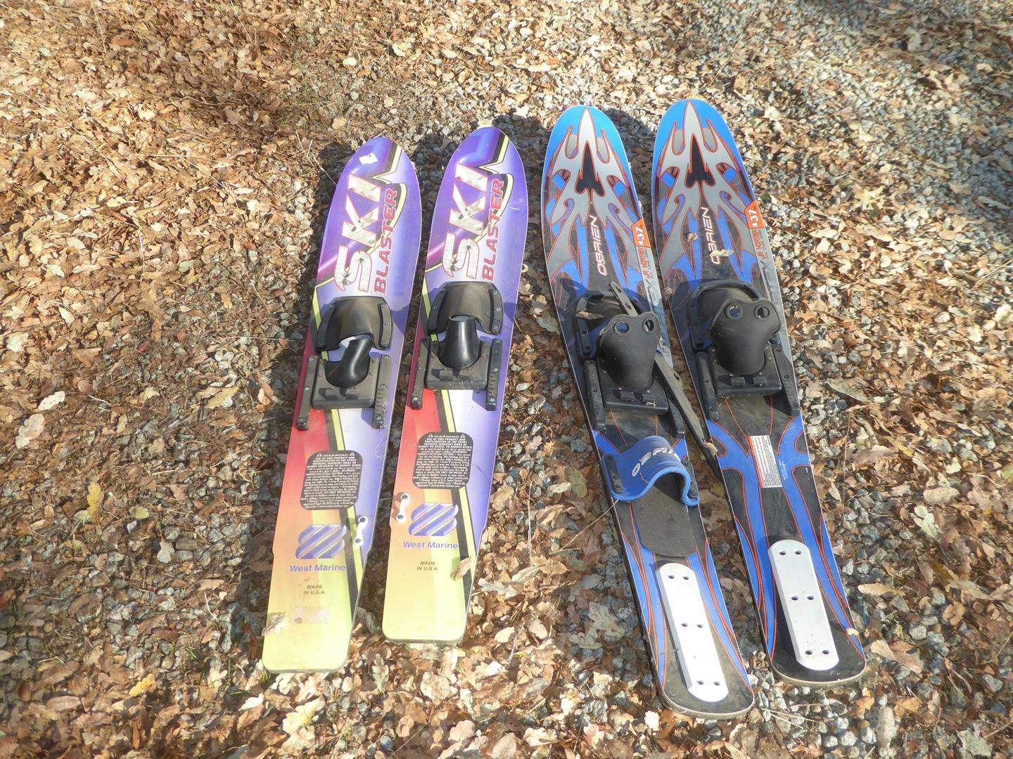 Lot # 77 - West Marine Ski Blaster & Obrien Jr. Vortex Water Skis (main image)